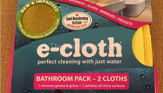 Clean with Just Water E-Cloth Review and Giveaway - The Mom Maven