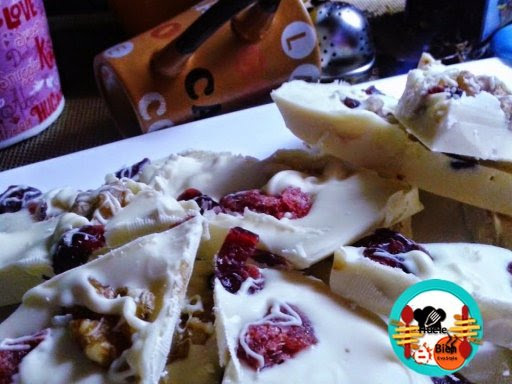Postres con chocolate blanco