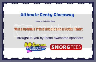 Signup for the Ultimate Geeky Giveaway. Event starts 11/8.