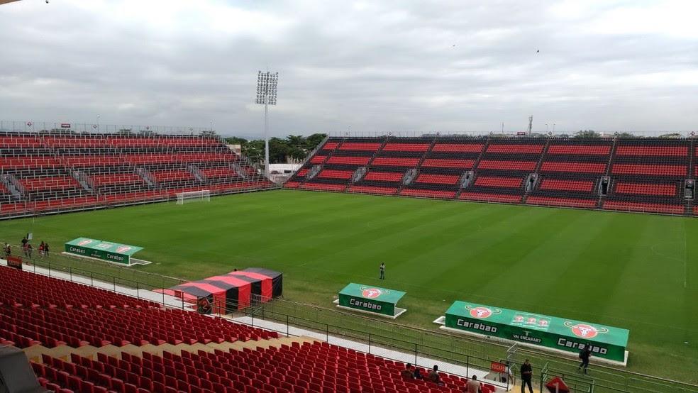 Estádio do Flamengo foi batizado de Ilha do Urubu (Foto: Vicente Seda)