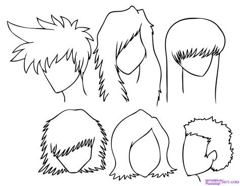 draw manga hair step  step anime hair anime