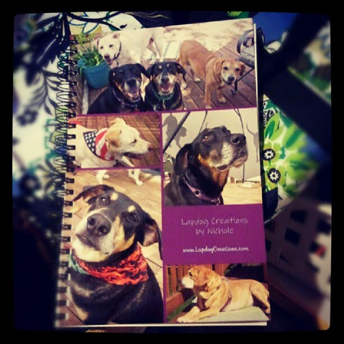 Love my new #customized #notebook from #shutterfly  #dogs #love #cool #adoptdontshop #rescue #mutt #dogstagram
