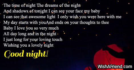 The Time Of Night Good Night Poem For Him