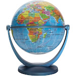 GyroGlobe Political Blue Oceans 4-inch Diameter Waypoint Geographic