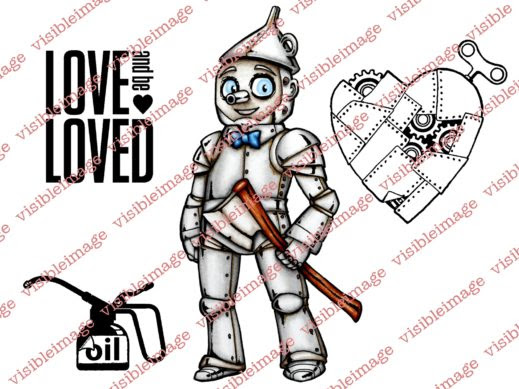 Visible Image OZ Tin Man stamp set