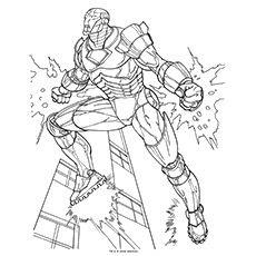 Mewarnai Gambar Iron Man Auto Electrical Wiring Diagram