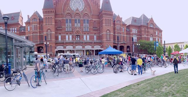 The Music Ride, celebrating OTR + Cincinnati + Music + Bikes