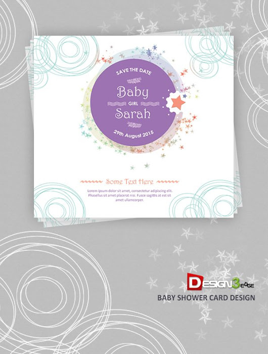 Baby Shower Card Design | Design3edge