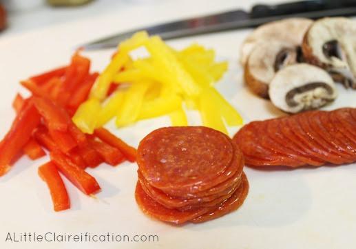 Italian Pepperoni Veggie Tart Ingredients
