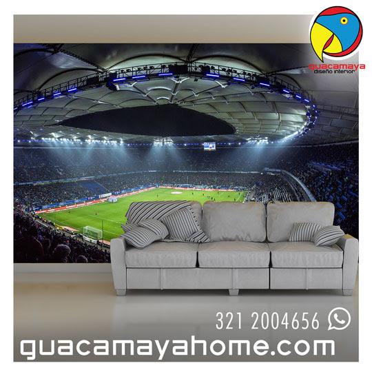 Foto Mural Estadio Futbol Guacamaya Vinilos Decorativos