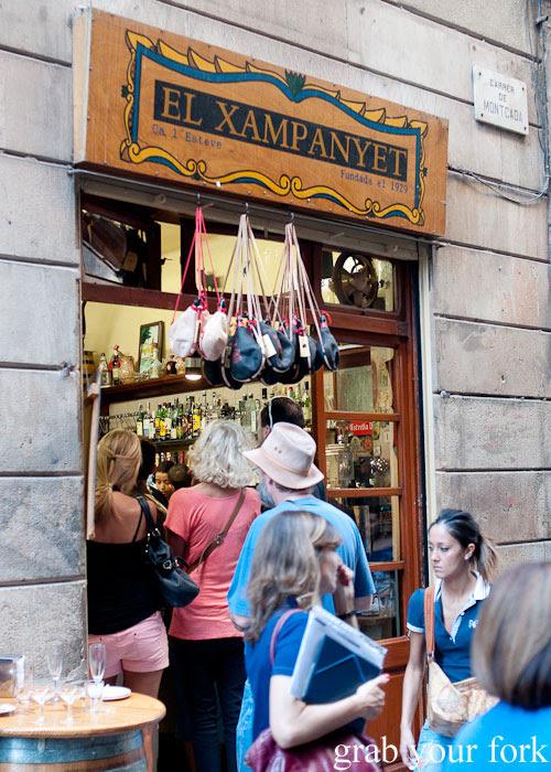 Entrance to El Xampanyet, Barcelona