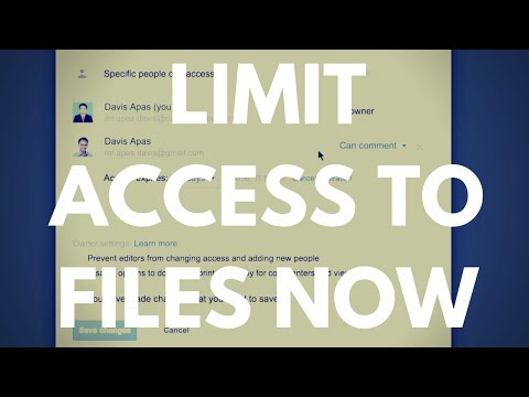 Limit access to your files in Google Drive