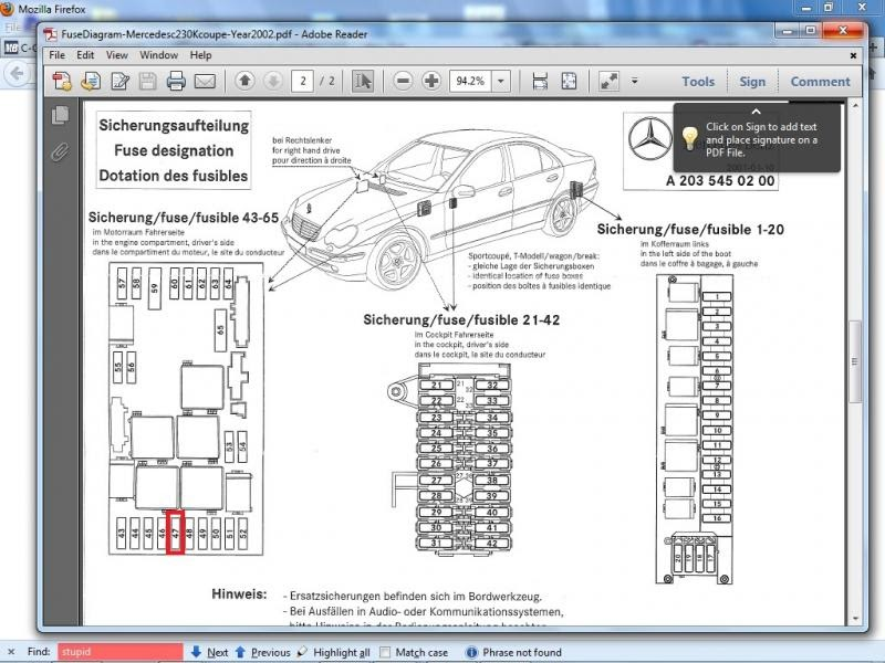 Mercedes C320 Fuse Box Rear | schematic and wiring diagram