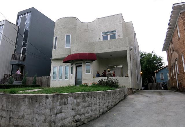 IMG_2596-2013-07-22-opening-Low-Museum-MoreOfTheSame-curve-modern-rustic-stucco-California-style-facade-John-Wesley-Dobbs