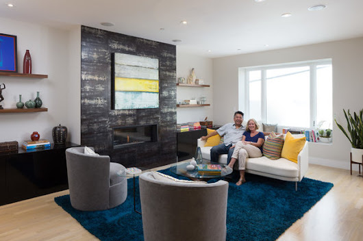 Houzz Tour: Modern With a View to Being Warm and Cozy
