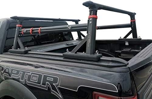 Vanguard Black Powdercoat Craftsmen Extendable Bed Rack   Compatible with All Modern Trucks