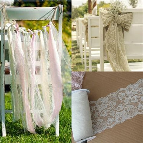 White Lace Wedding Decorations Supplies Boho Beach Wedding