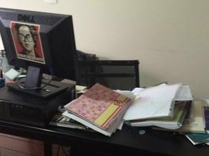 Interior do Instituto Lula, no Ipiranga, após operação da PF (Foto: Roney Domingos/G1)