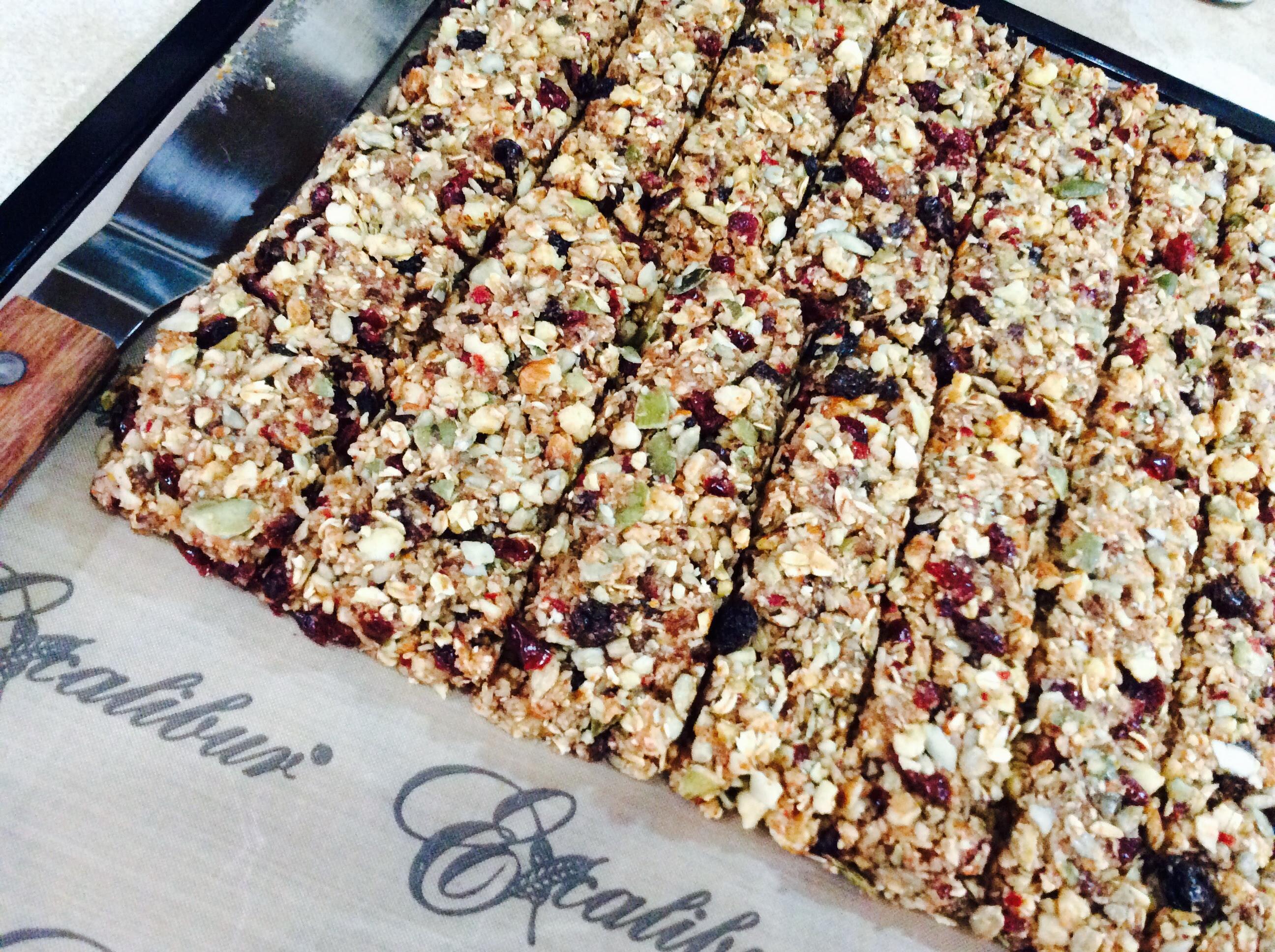 Homemade Raw Vegan Granola Bars - Forget The Box