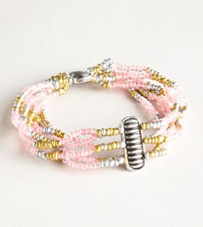 AEO Beaded Pink Bracelet - Buy One Get One 50% Off