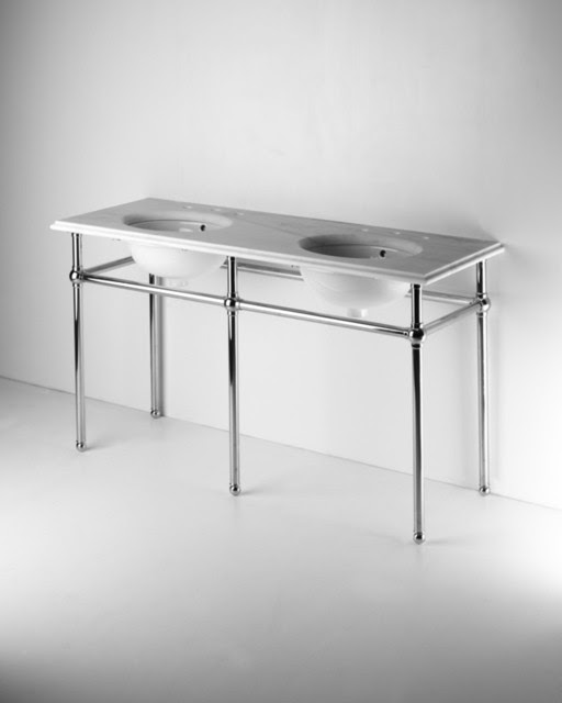 Park Rounded Metal Single Console Sink: Native Home Garden Design