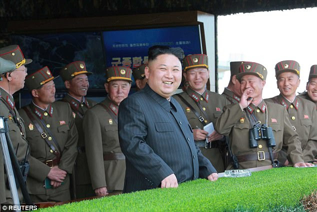 The despot leader was tipped to carry out missile tests last month, culminating in a failed test on April 29