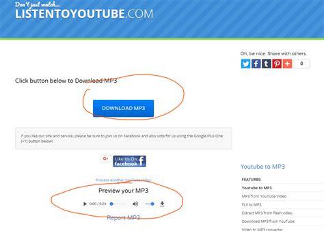 listentoyoutubecom tutorial step  click  button