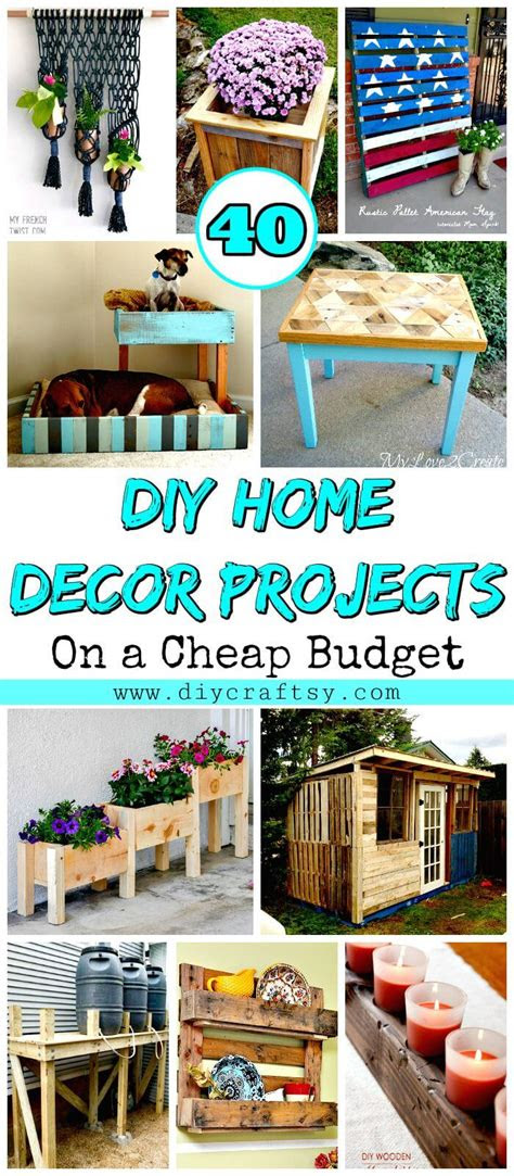 diy home decor projects   cheap budget diy crafts