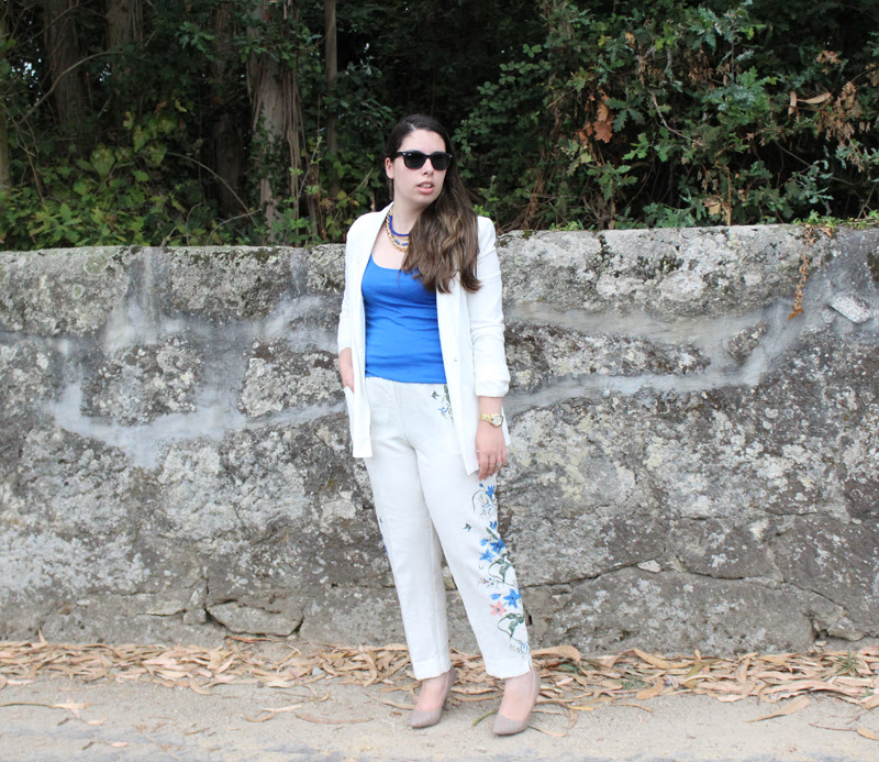 Blue & White Suit