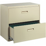 Hirsh 30 in, 17 41/64 in, 27 3/4 in, File Cabinet, Putty 19295