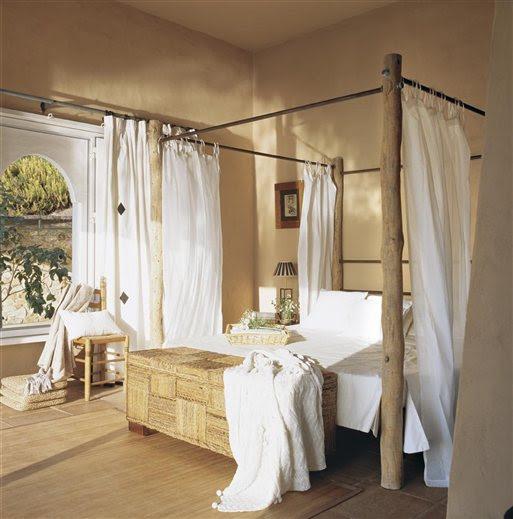 Dormitorio principal en tonos tierra