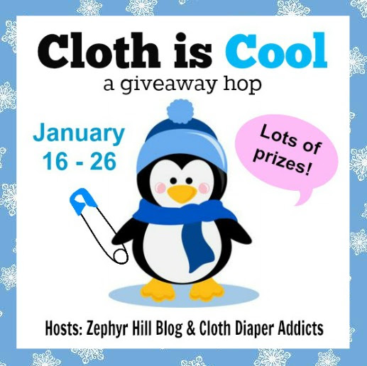 Cloth is Cool #clothdiapers {Giveaway} 1/26 #sorteo #sweeps