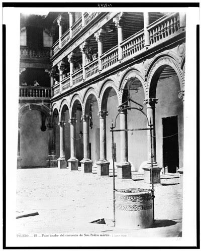 Claustro deSan Pedro Mártir (Toledo) en el siglo XIX. Fotografía de Jean Laurent. The Library of Congress of the United States of America