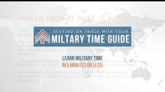 Best way to learn military time? | Yahoo Answers
