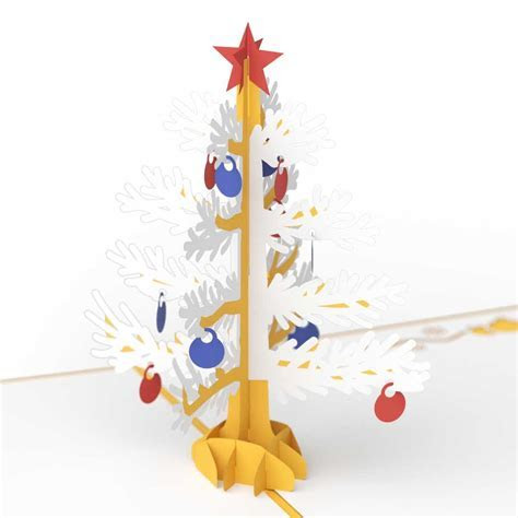 3D Christmas Tree Pop Up Holiday Card (Gold)   Lovepop