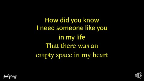 I Needed Someone Like You In My Life Lyrics