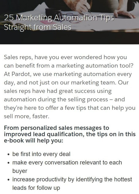 [FREE] 25 Marketing Automation Tips Straight from Sales - Pardot - BreakingNEW