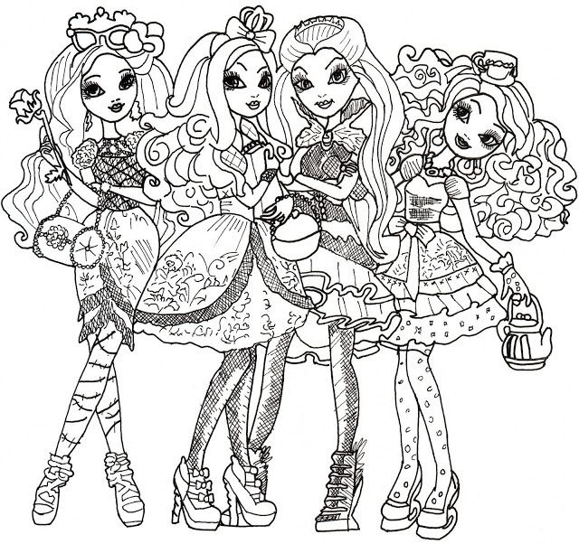 Ever After High Coloring Pages Legacy Day Free Printable Sketch