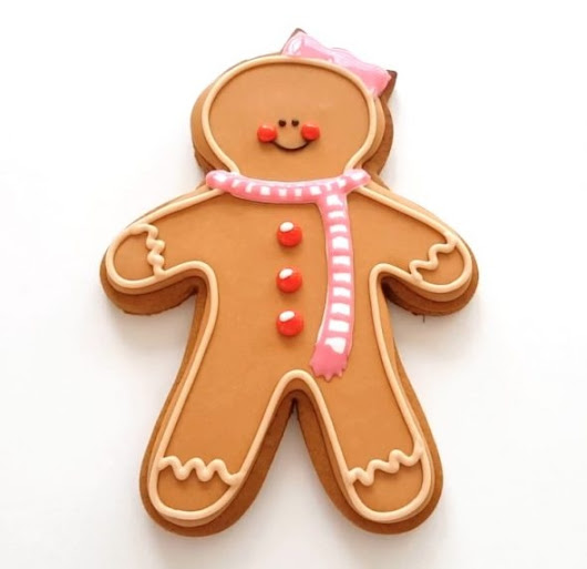 How to Decorate Gingerbread Girl Cookies with Royal Icing | Sweetopia