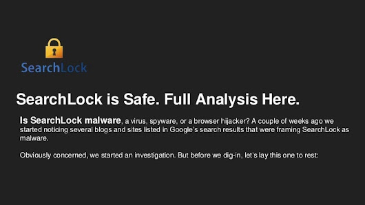 Is SearchLock malware, a virus, spyware, or a browser hijacker?
