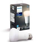 Philips - Hue White A19 Bluetooth Smart LED Bulb - White