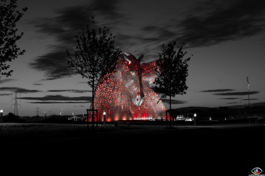 The Kelpies in Red by Pietro Fabio Fodaro on YouPic