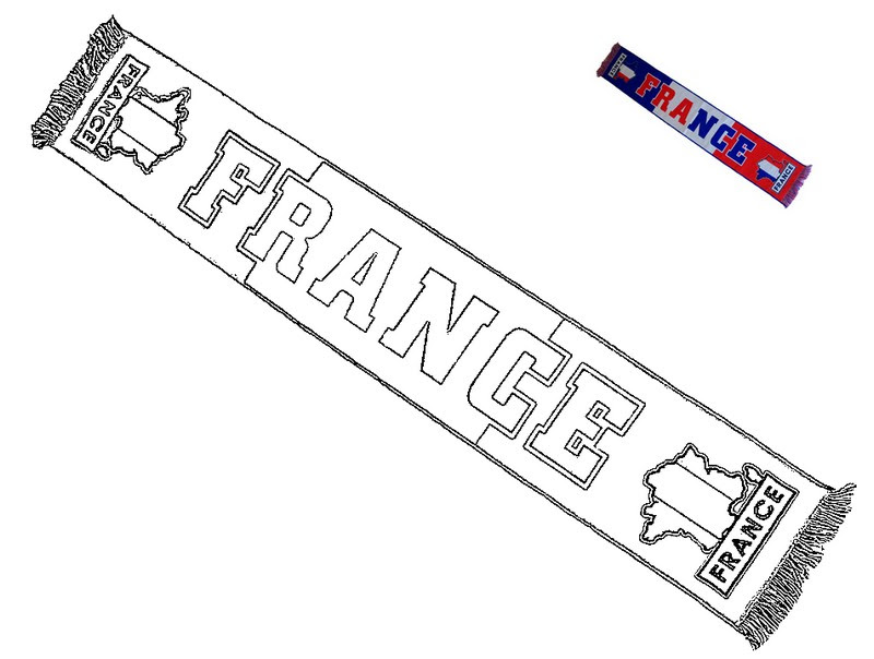 Coloriage Equipe De France De Football Echarpe équipe De France Foot 1