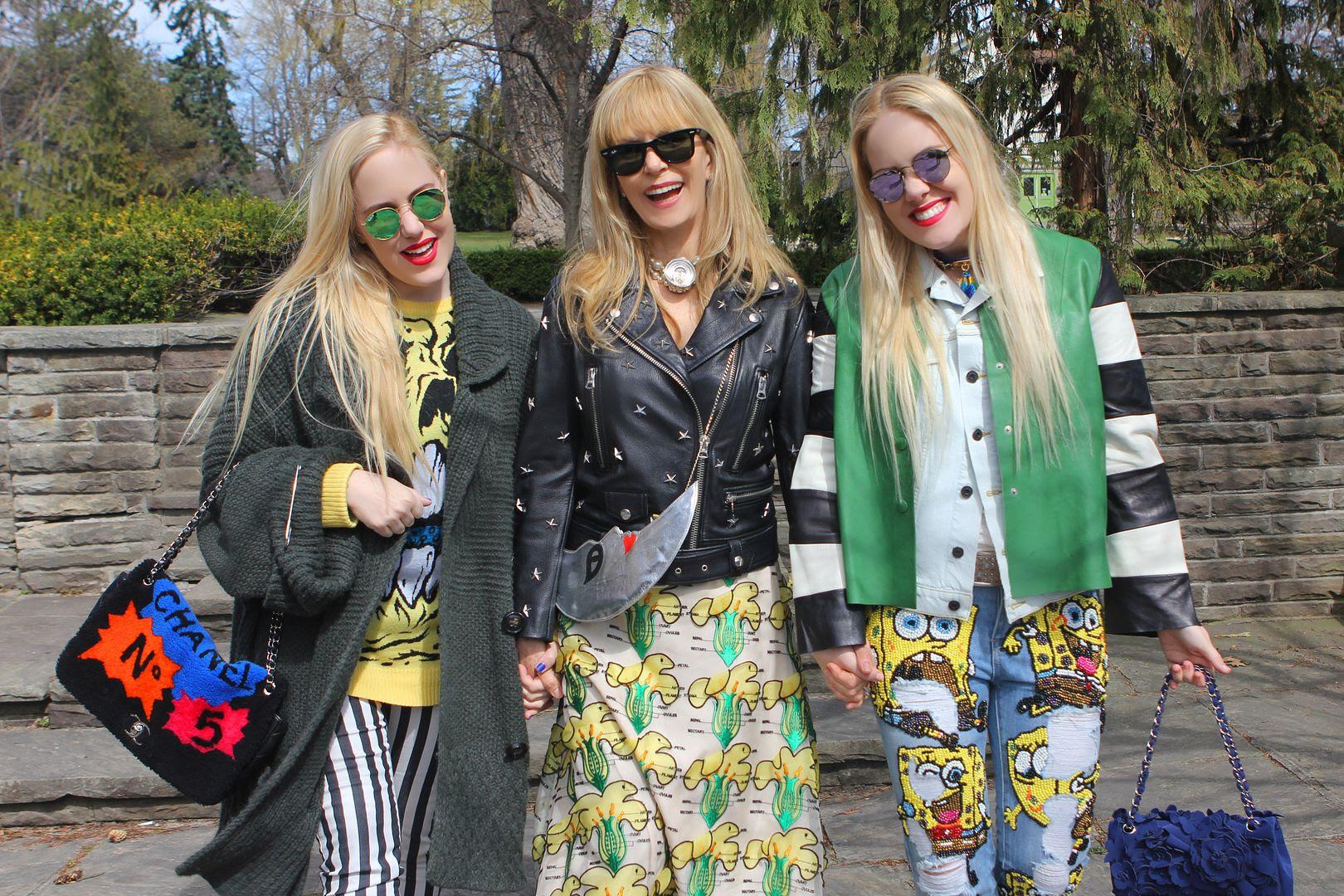 photo spongebobjeans-acneleatherjacket-chanelbags-raybansunglasses-sunglasshut-beckermangirls-sisters-twins-canadastreetstyle-toro_zpsgde7gz0v.jpg