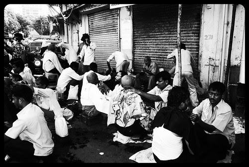 Street Barbers of Banganga by firoze shakir photographerno1