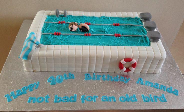 Swimming pool birthday cake | Birthday ideas | Pinterest