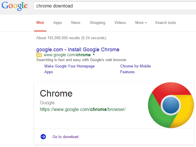 Google search now shows cards with official software ...