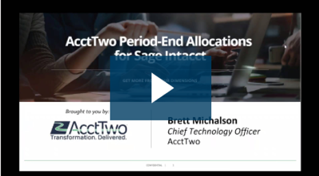 AcctTwo Automated Period-End Allocations for Sage Intacct