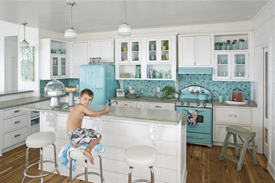 Turquoise Backsplash Ideas