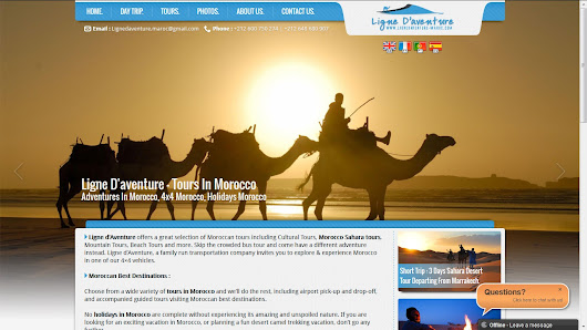 Ligne d' Aventure Offering Comprehensive Range of Authentic Morocco Desert Tours at Reasonable Rates